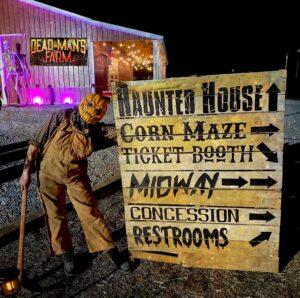 Dead Man's Farm haunted house directional